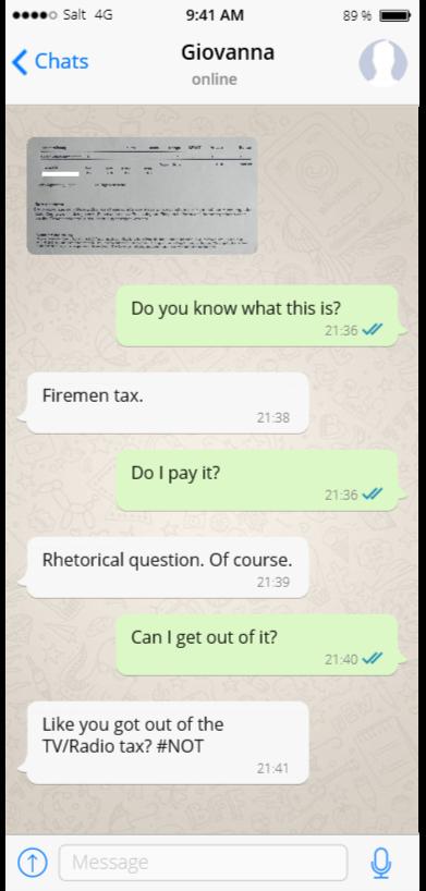 Fire chat Feuerwehrersatzabgabe