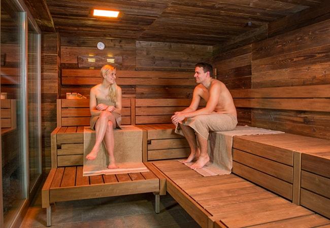 towels in sauna