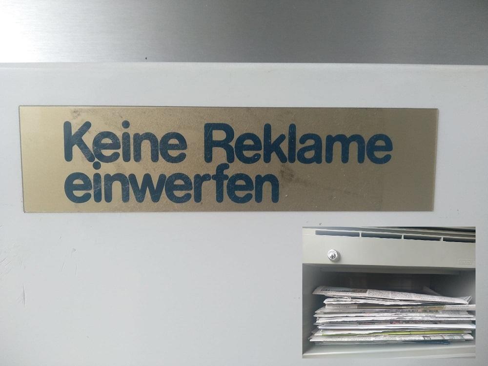 His Zug mailbox